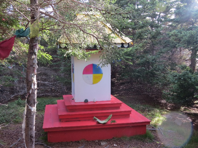 Shrine on top of mountain, Gampo Abbey, Cape Breton