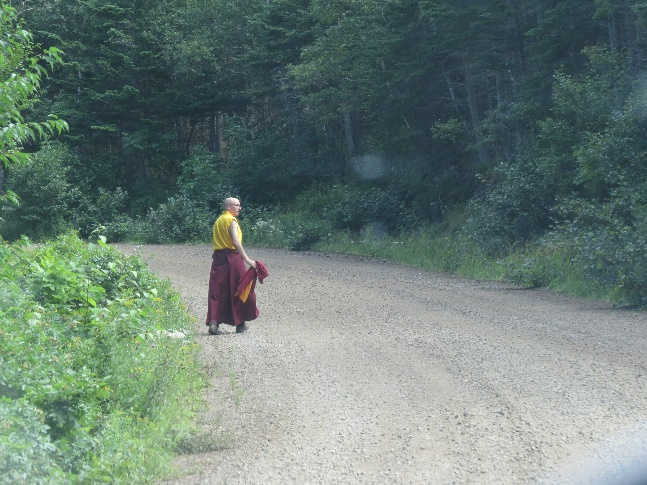 First sighting of Gampo Abbey, Buddhist monk