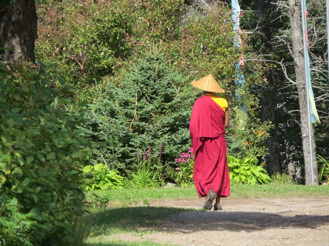 Buddhist monk at Gampo Abbey, Cape Breton