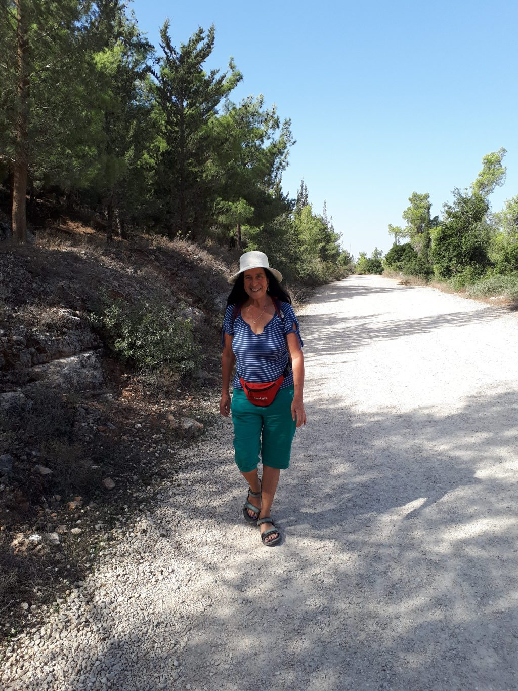 Walking in Har Eitan. Excersicing in the free air