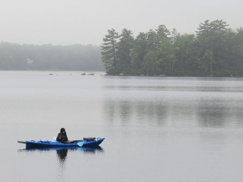 Canoeing Kennebunk Pond with Mists