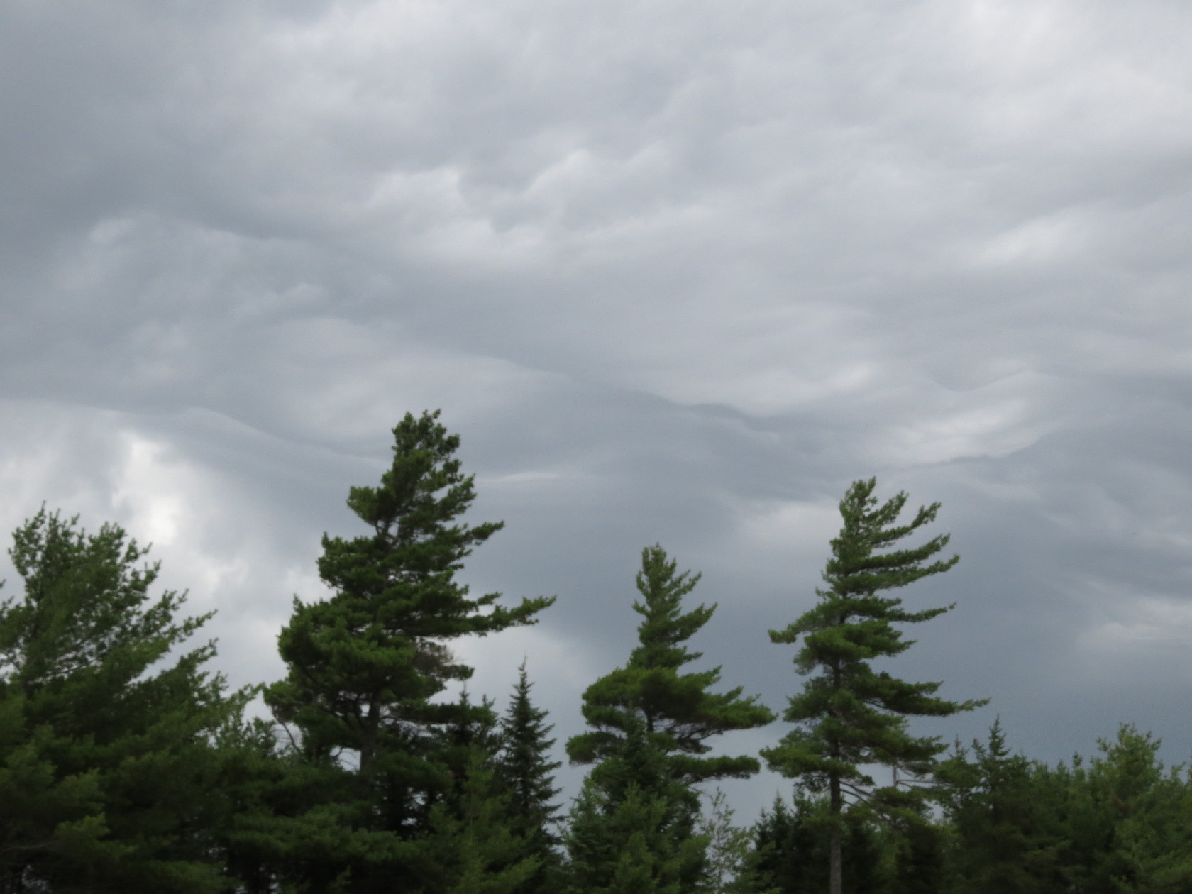 On way to Fundy. Storm ahead, clouds gathering