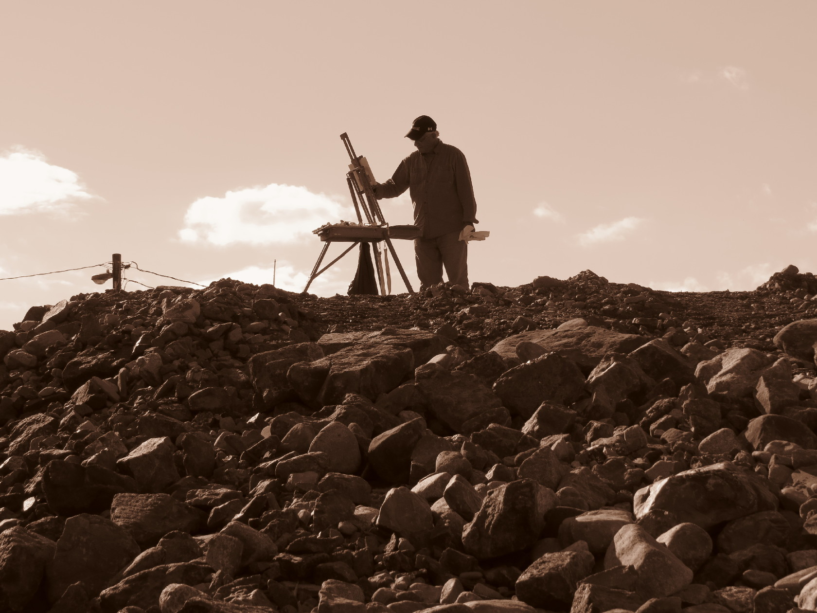The painter in sepia, Alma