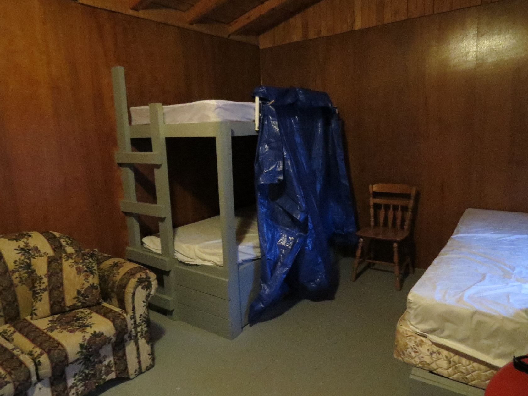 Dry cabin at WOW Campground, Truro - interior