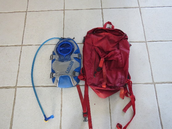 Northface backpack and insertable waterbag