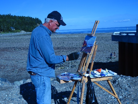 The painter in blue, Alma