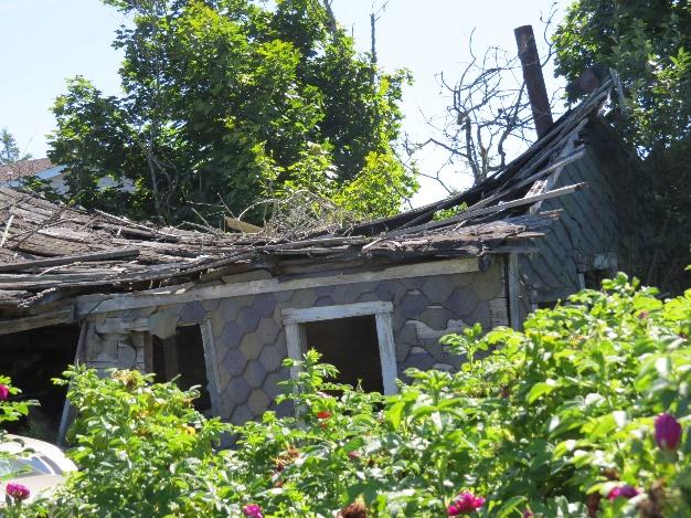 Dilapidated house on Campobello Island, NB