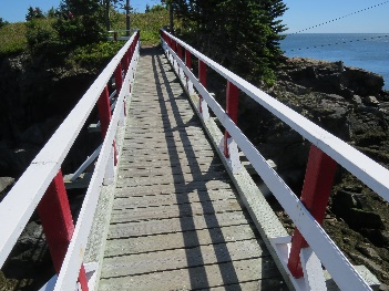 A bridge on route to lighthouse, Quoddy Head, campobello, NB