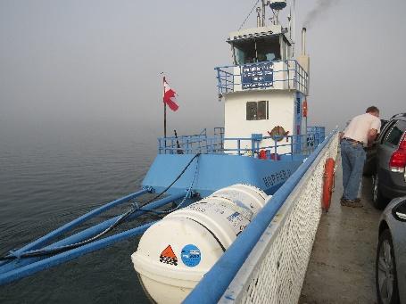 Deer Island-Campobello ferry, Motor attached sideways.