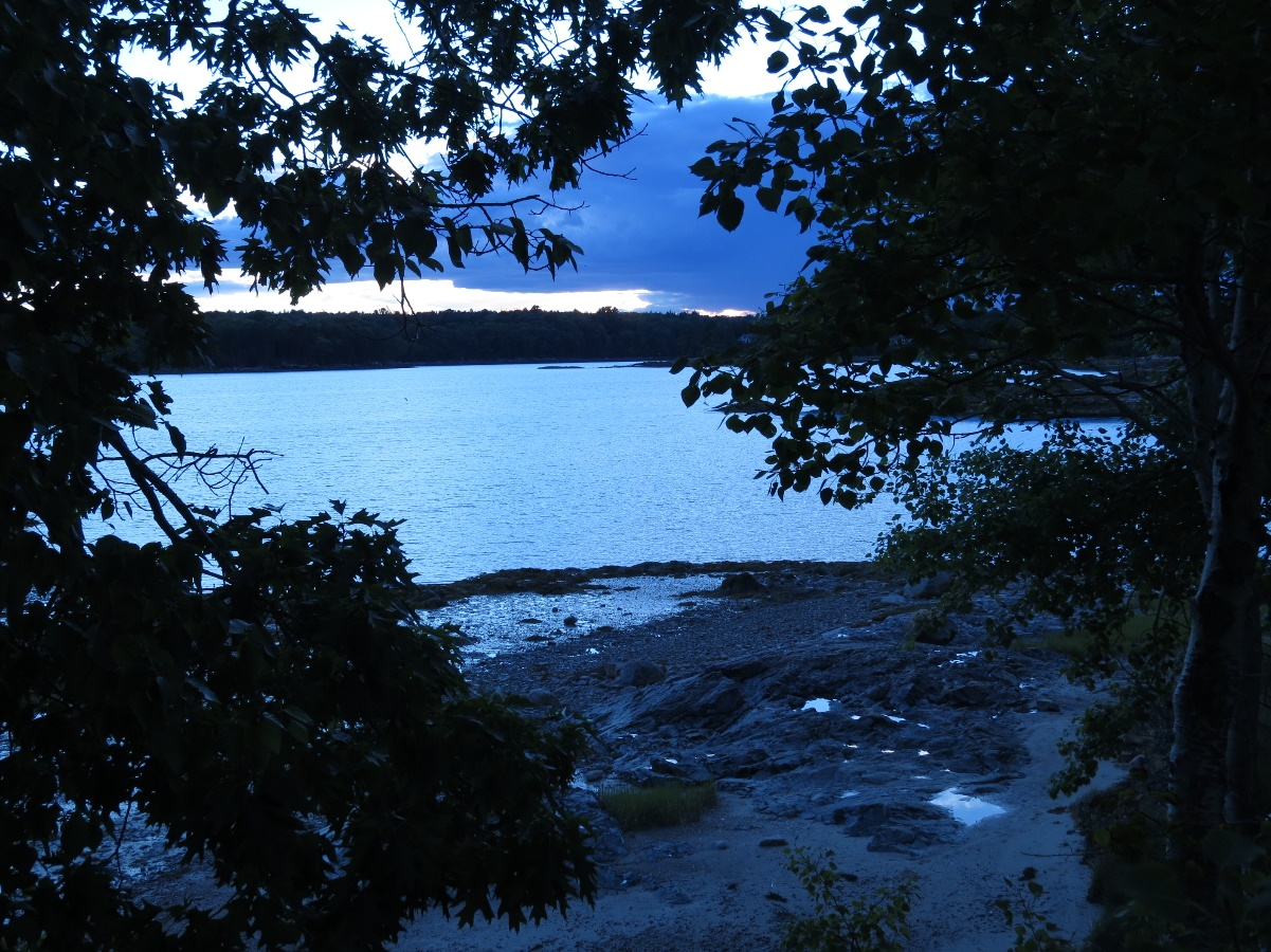 Dusk setting over Flanders Bay, ME