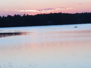 Sunset over Kennebunk Pond, Maine