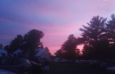 Sunset at Ossipee Valley Bluegrass Festival, ME