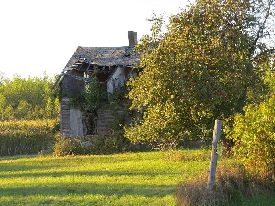 Delapidated house, Isle La Motte