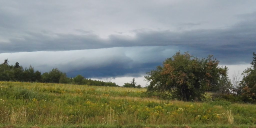 Storm clouds over PEI