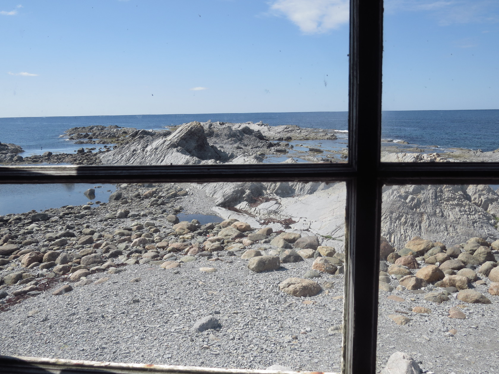 A view from the museum's window on the jetty, Broom's Point, NL