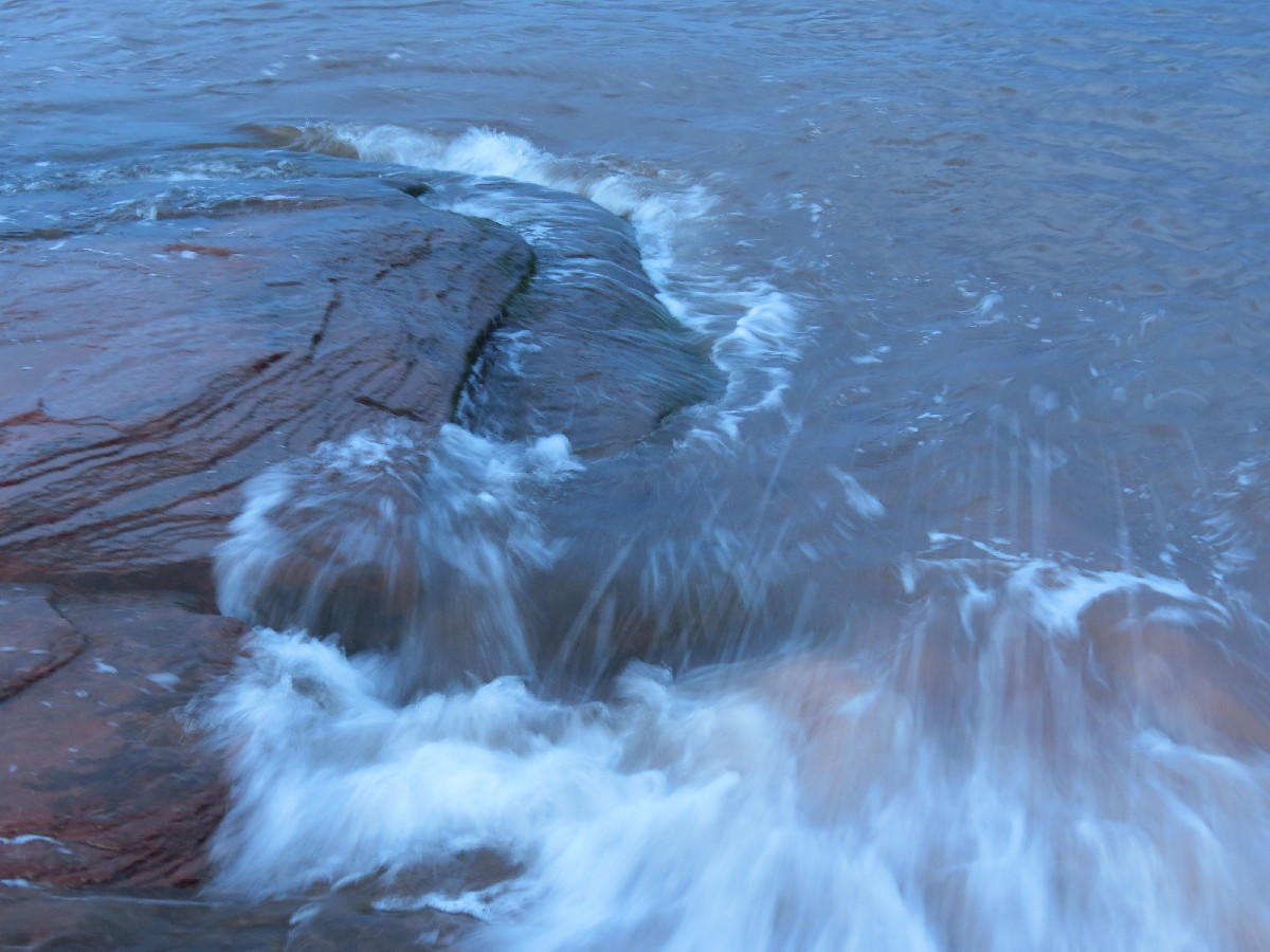 The sea at the rock, Campbell's Cove , PEI