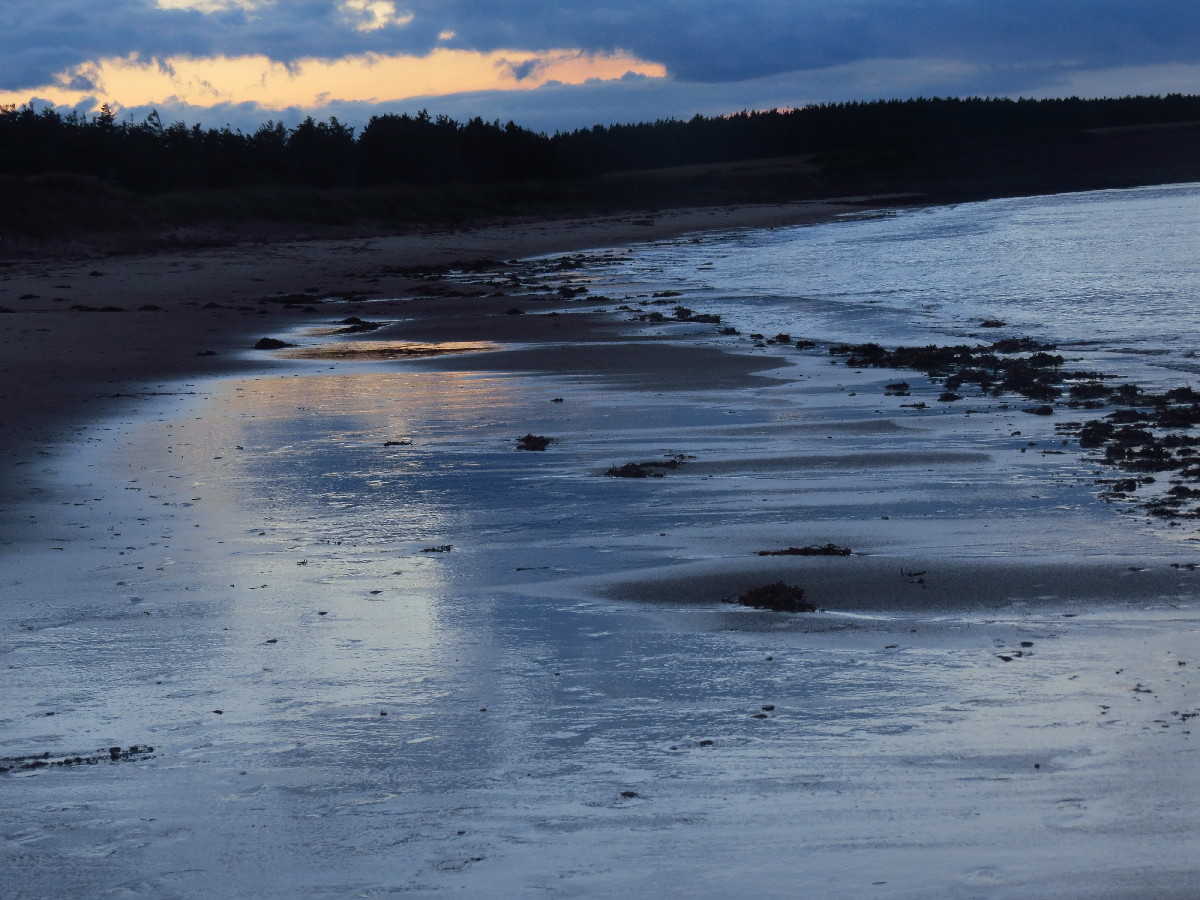 The sea welcoming the night, Campbell's Cove, PEI