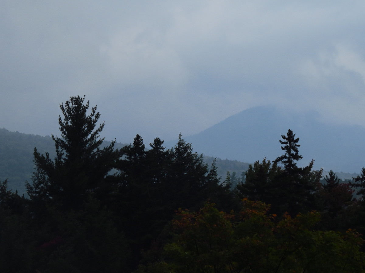 Clouds gatehring over the White Mountains, Kancamagus Road