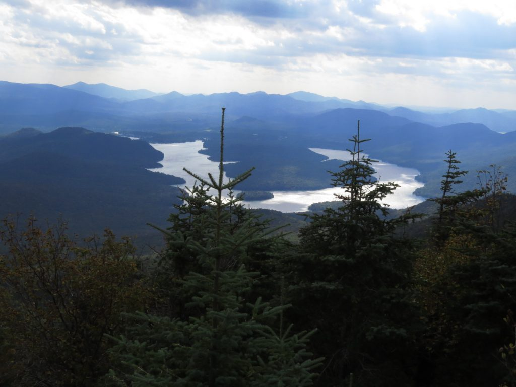 Lake Placid viewed from Mount Whiteface summit