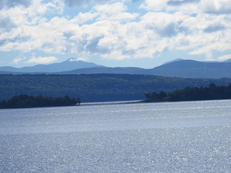 Lake Champlain on way to Isle La Motte