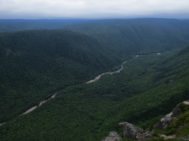 Clayburn River Valley from top Mount Franey