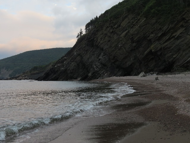 Meat Cove Beach, late afternoon