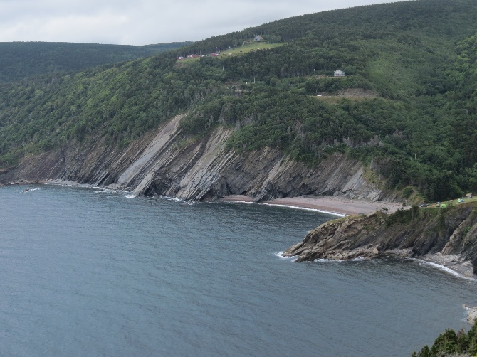 A back look on the cliffs from trail 1, Meat Cove, Cape Breton