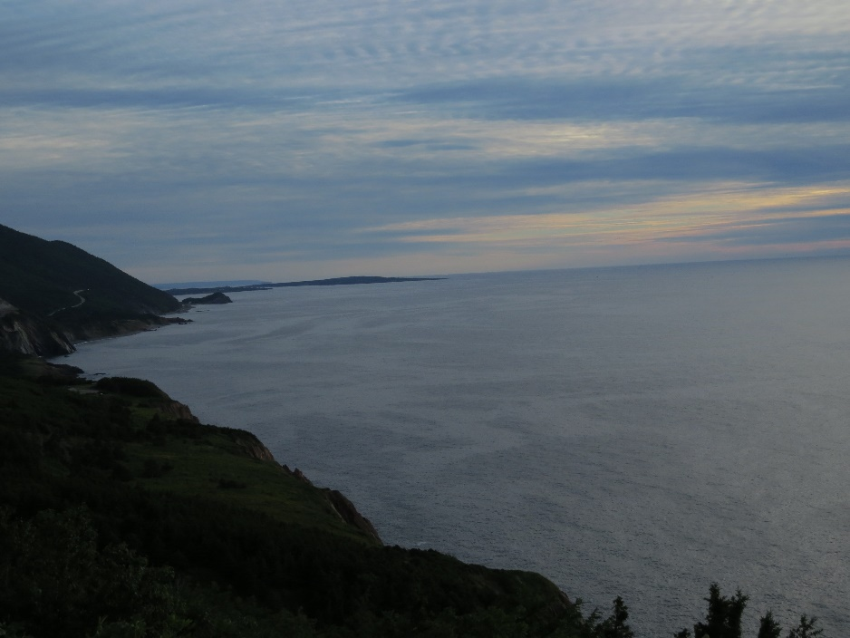 Shoreline in sunset , Cabot Trail lookouts