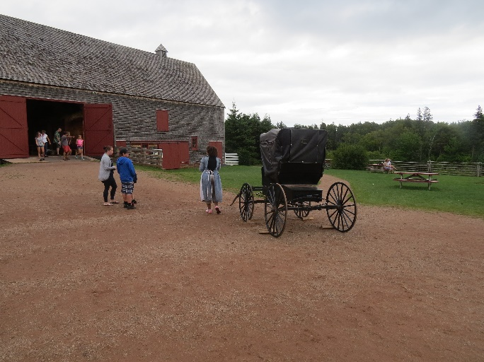 Reconstructed yard with carriage, Green Gables, Cavendish