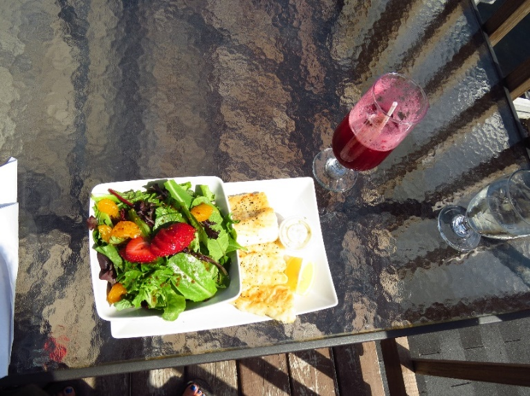 Fish dinner at Old Loft, Woody Point, NL