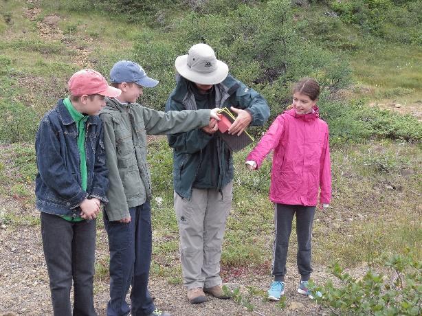 Explaining mission to kids demonstrating continentla drift, The Tablelands