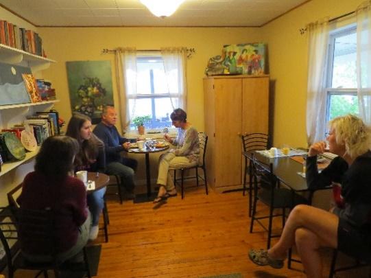 Breakfast crowd at Morgan's Bed and Breakfast, Shediac, NB