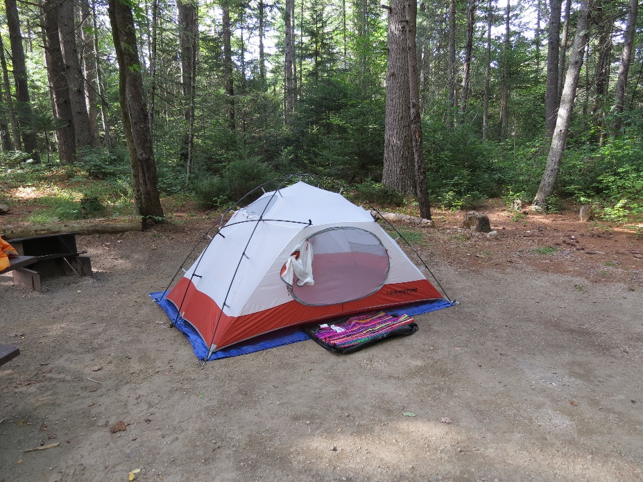 My Easton tent at lot #10, Jigger Johnson Campground, White Mountains