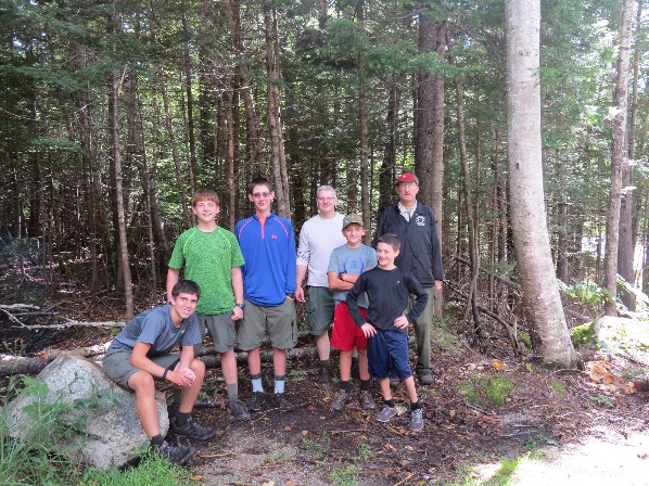 Scouts with mentors at the end of Greeley and Oceola Trails