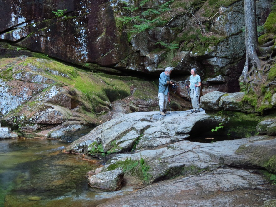 Older couple on Sabbaday Falls Trail
