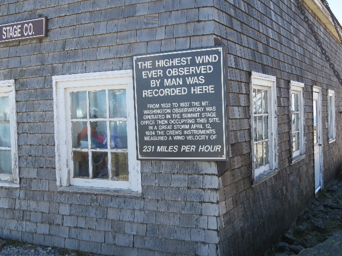 Fastest winds in the world., Mount Washington