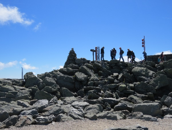 On the summit, Mt. Washington