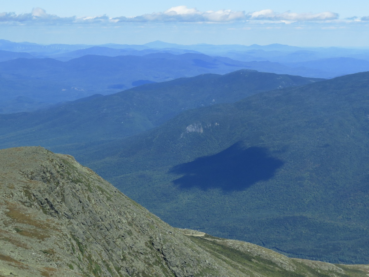 Mount Washington Guided Tour. Cloud shadow in mountain