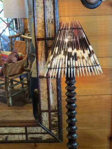 Porcupine lampshade, Keene Furniture Store
