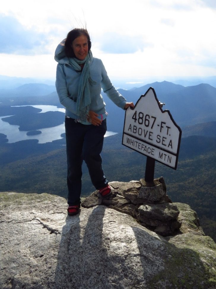 At the peak of Mount Whiteface, Adirondacks, NYS