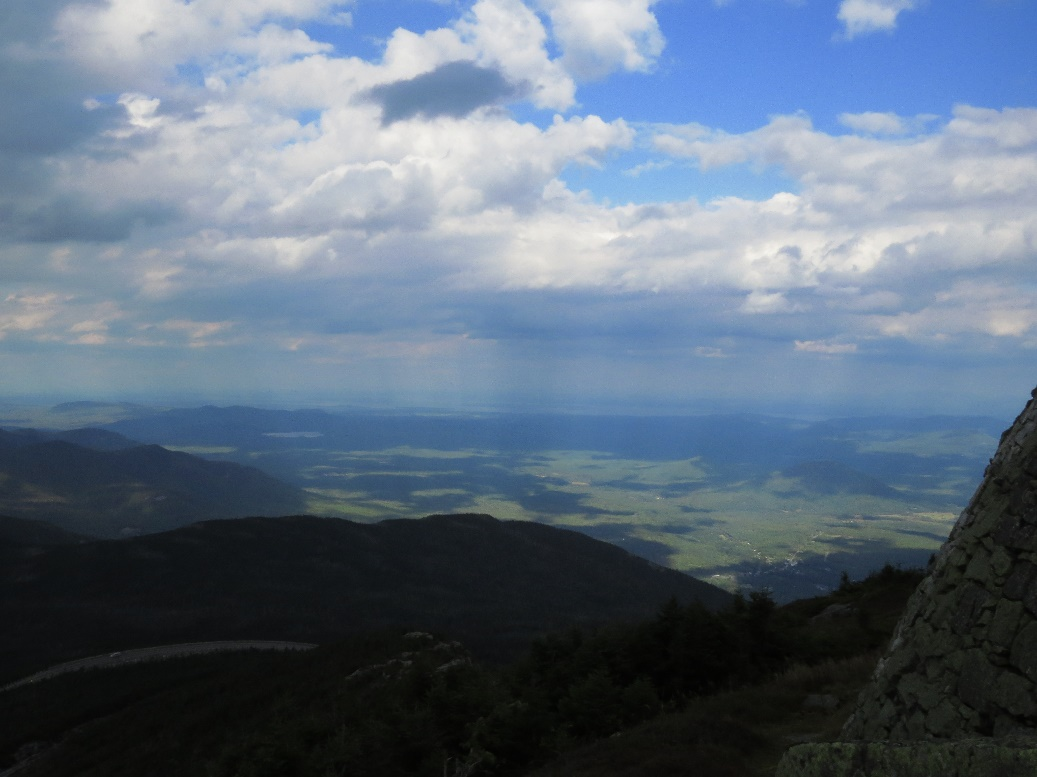 Inverted sunrays refelcted from Earth, Mount Whiteface view