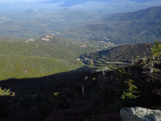 A view back on my morning climb from Mount Whiteface summit, Adirondacks, NYS