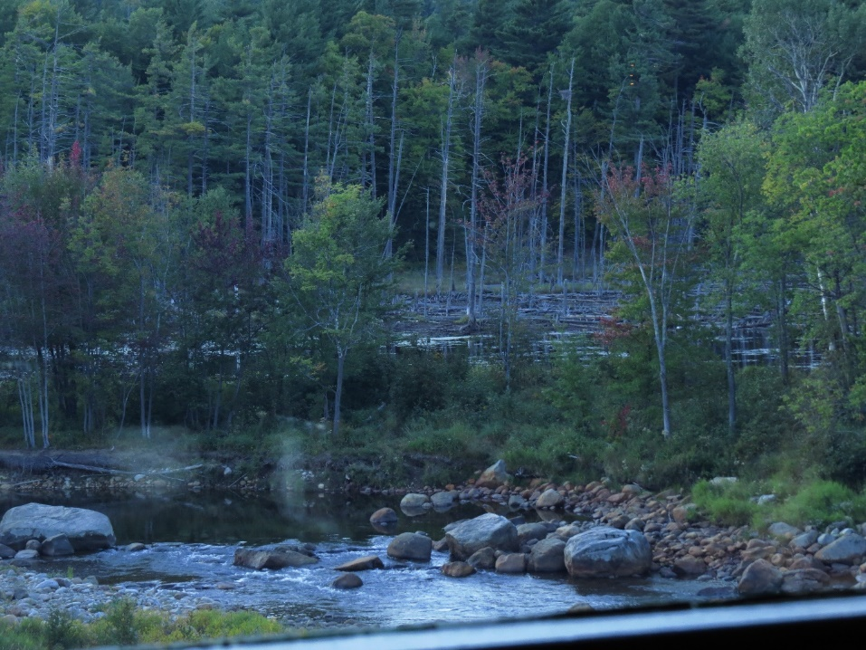 River Ausable viewed from the Hungry Trout, Adirondacks