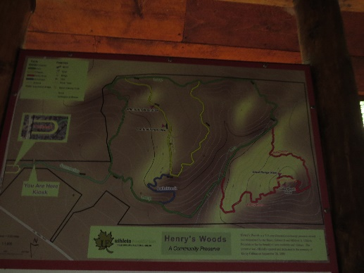 Henry Woods Preserve map, Adirondacks, NYS