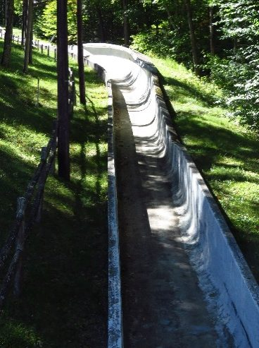 1932 bobsled track, Lake Placid Olympic Complex. NYS