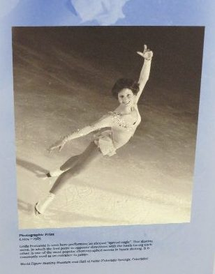 Linda Fratrianne photo at Lake Placid Olympic Museum