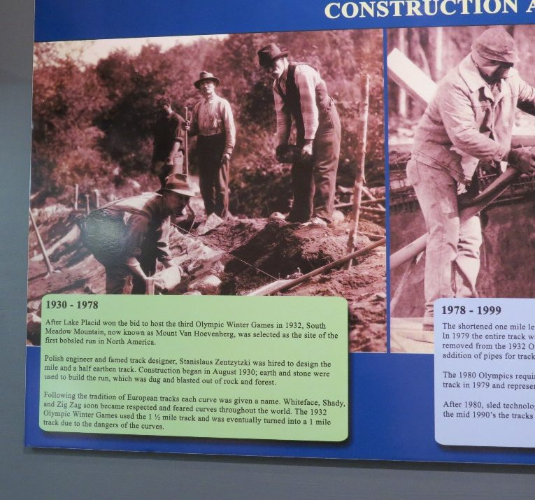 Constructing the 1932 sled track, Lake Placid Olympic Museum, NYS