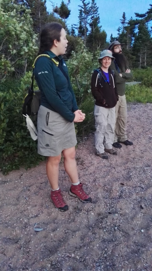 Ready for the Seeing-in-Dark walk, Ingonish National Park, Cape Breton
