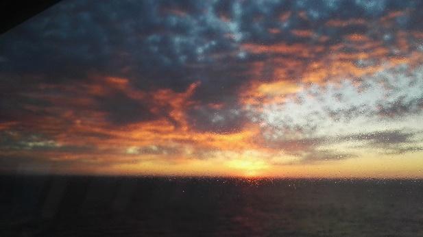Cape Breton sunrise viewed from the Marine Atlantic