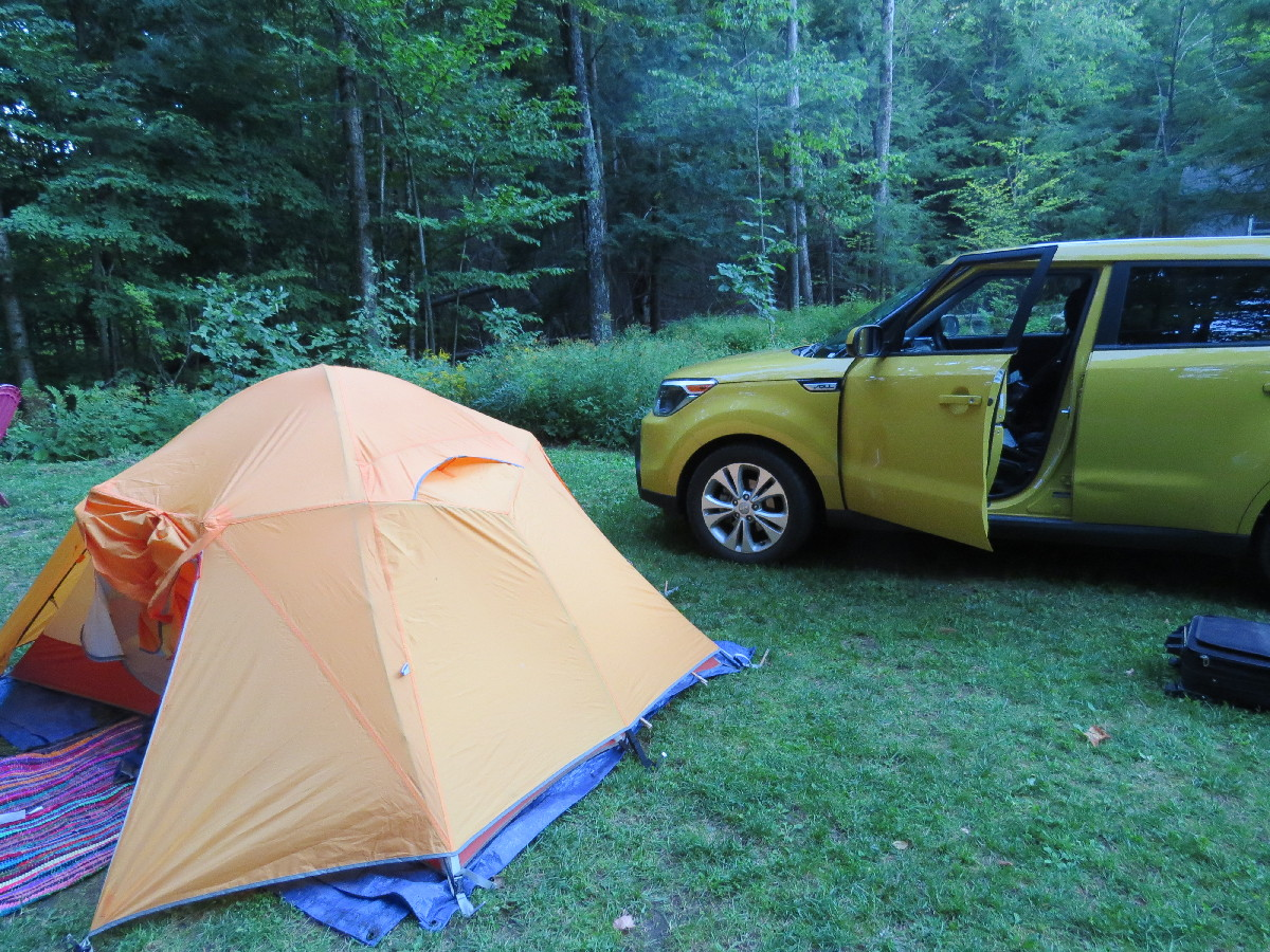 Tenting at Lazy Lions Campground, Central VT